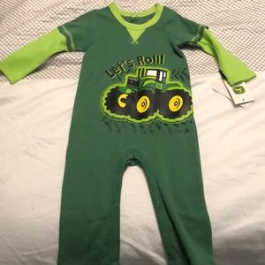 Baby boy John Deere one piece